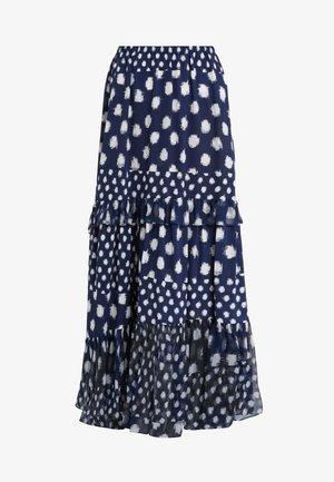 LORA - Maxi skirt - dark blue