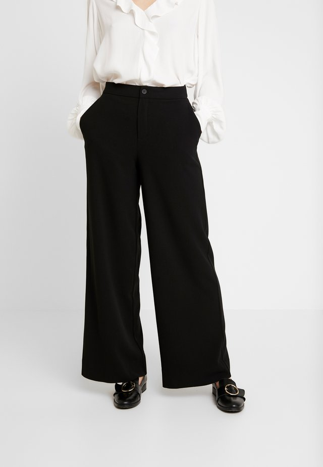 TROUSERS FREIDA - Tygbyxor - black