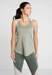 Nike Performance - DRY TANK ELASTIKA - Sports shirt - jade stone/white - 0