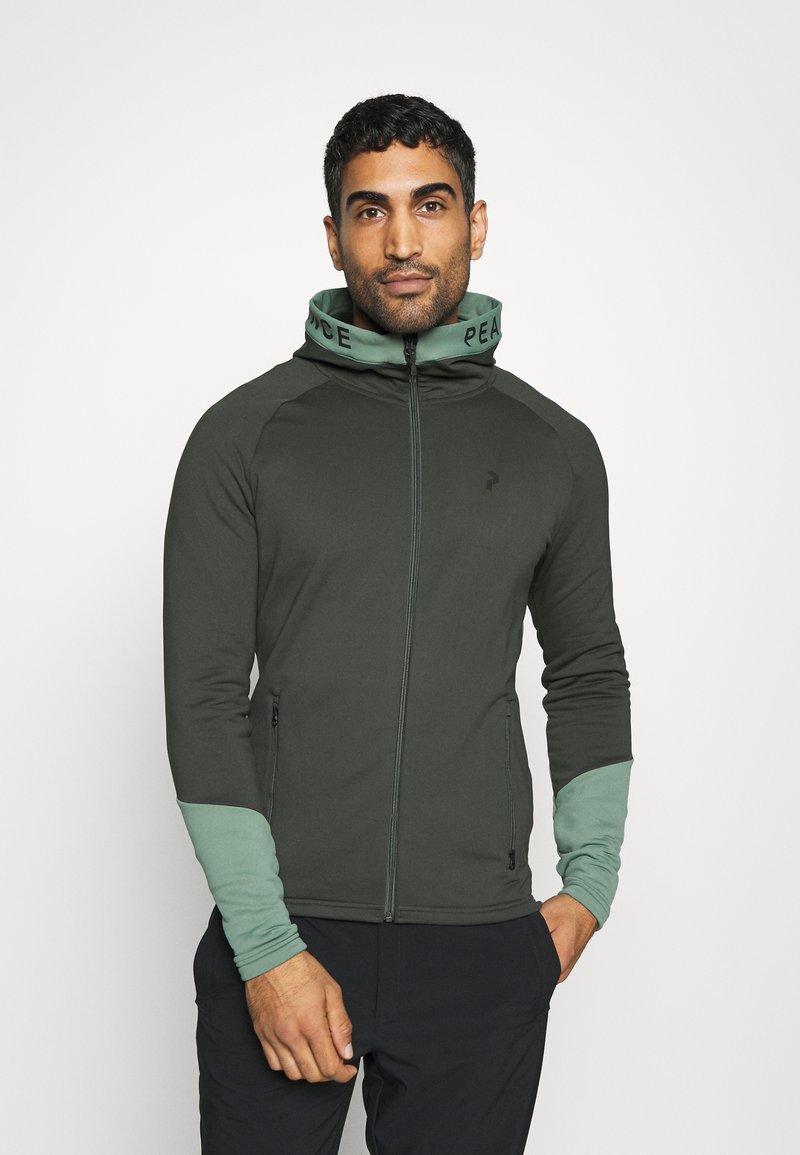 Peak Performance - RIDER ZIP HOOD - Zip-up hoodie - coniferous green