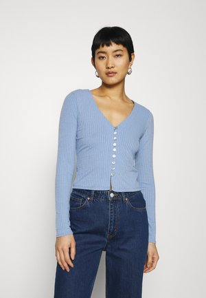 BUTTON THROUGH CARDIGAN - Gilet - blue