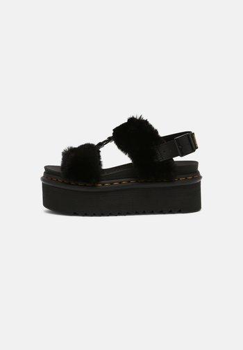 FRANCIS FLUFFY - Platform sandals - black