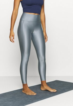 CROPPED GLOSS LEGGING - Tights - silver grey