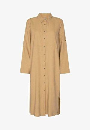 Shirt dress -  tan