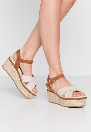 NEW SOCOTRA - Platform sandals - tan