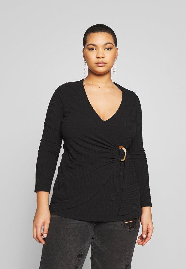 WRAP - Maglietta a manica lunga - black