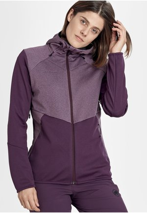 Outdoor jacket - blackberry-blackberry melange