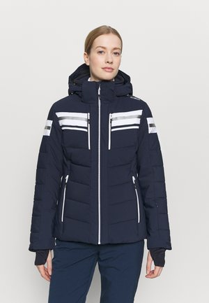 WOMAN JACKET ZIP HOOD - Skijakker - black blue