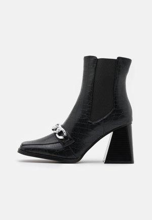 BEATRIX - Kotníková obuv na vysokém podpatku - black