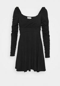 NA-KD - PAMELA REIF DRAPED  - Jersey dress - black - 4