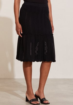 MARNIE - A-line skirt - black