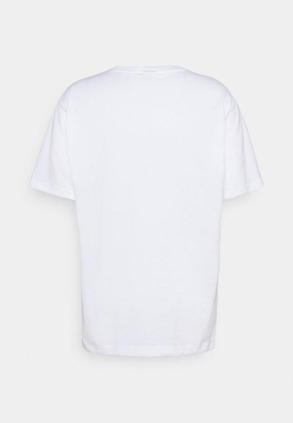 New Balance T-shirt z nadrukiem - white/biały Odzież Męska RBDD