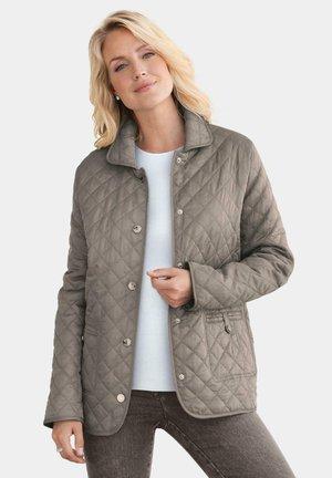 MIT REGELMÄSSIGEM STEPP - Light jacket - taupe