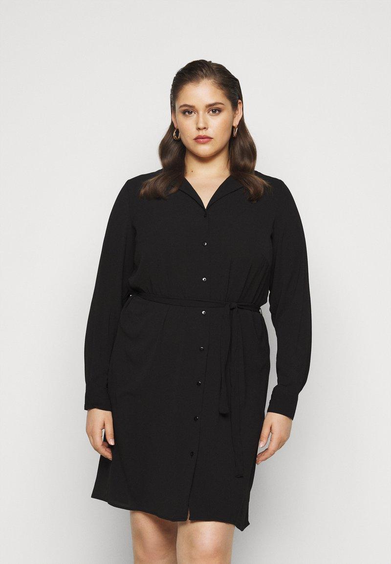 Vero Moda Curve - VMSAGA DRESS  - Shirt dress - black