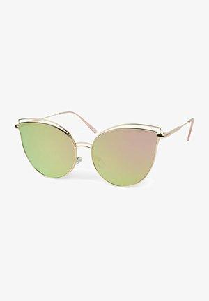 MIT DOPPELTEM RAHMEN  - Sunglasses - gestell gold / glas pink