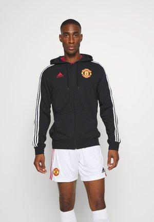 MANCHESTER UNITED FOOTBALL HOODED - Klubové oblečení - black