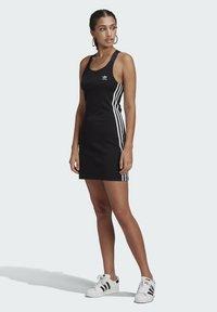 adidas Originals - RACER DRESS - Jersey dress - black - 1