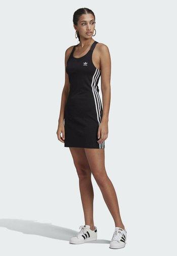 RACER DRESS - Jersey dress - black
