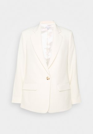 CLEAN CREPE - Short coat - ivory