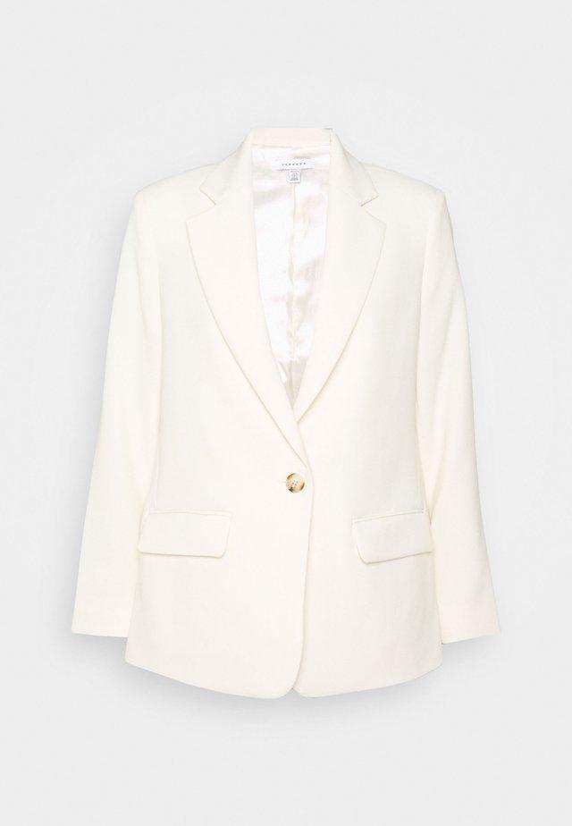 CLEAN CREPE - Short coat - ivory