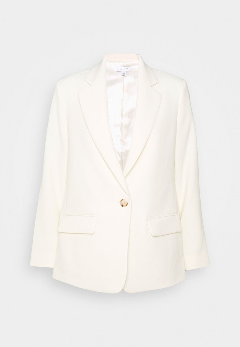 Topshop Petite - CLEAN CREPE - Short coat - ivory
