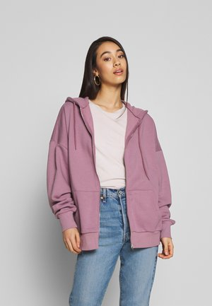 CHUNKY ZIP HOODIE - veste en sweat zippée - light purple