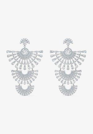 SWAROVSKI SPARKLING DANCE DIAL UP PIERCED EARRINGS, WHITE, RHODIUM PLATED - Earrings - silber