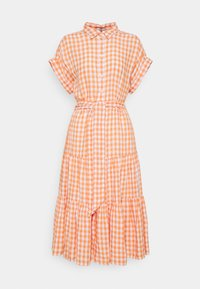 DRESS - Paitamekko - orange/white
