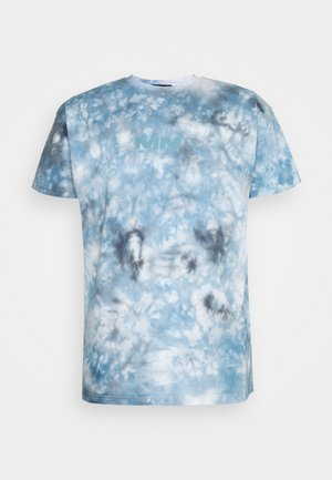 BREEZE TIE DYE REGULAR UNISEX - Print T-shirt - light blue