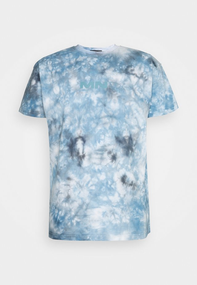 BREEZE TIE DYE REGULAR UNISEX - T-shirt con stampa - light blue