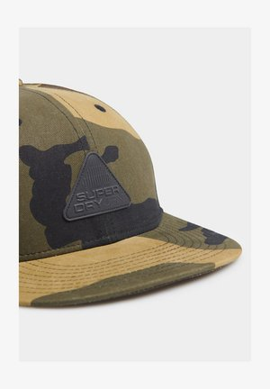 SUPERDRY 6 PANEL TWILL CAP - Cap - green camo