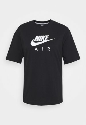 AIR TOP  - Print T-shirt - black/white