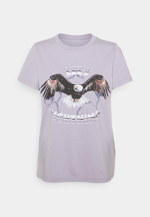 EAGLE TEE - T-shirt imprimé - lavender dusk
