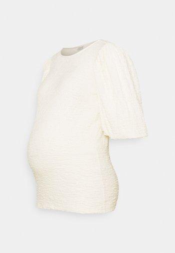 PCMKALA - Long sleeved top - cloud dancer