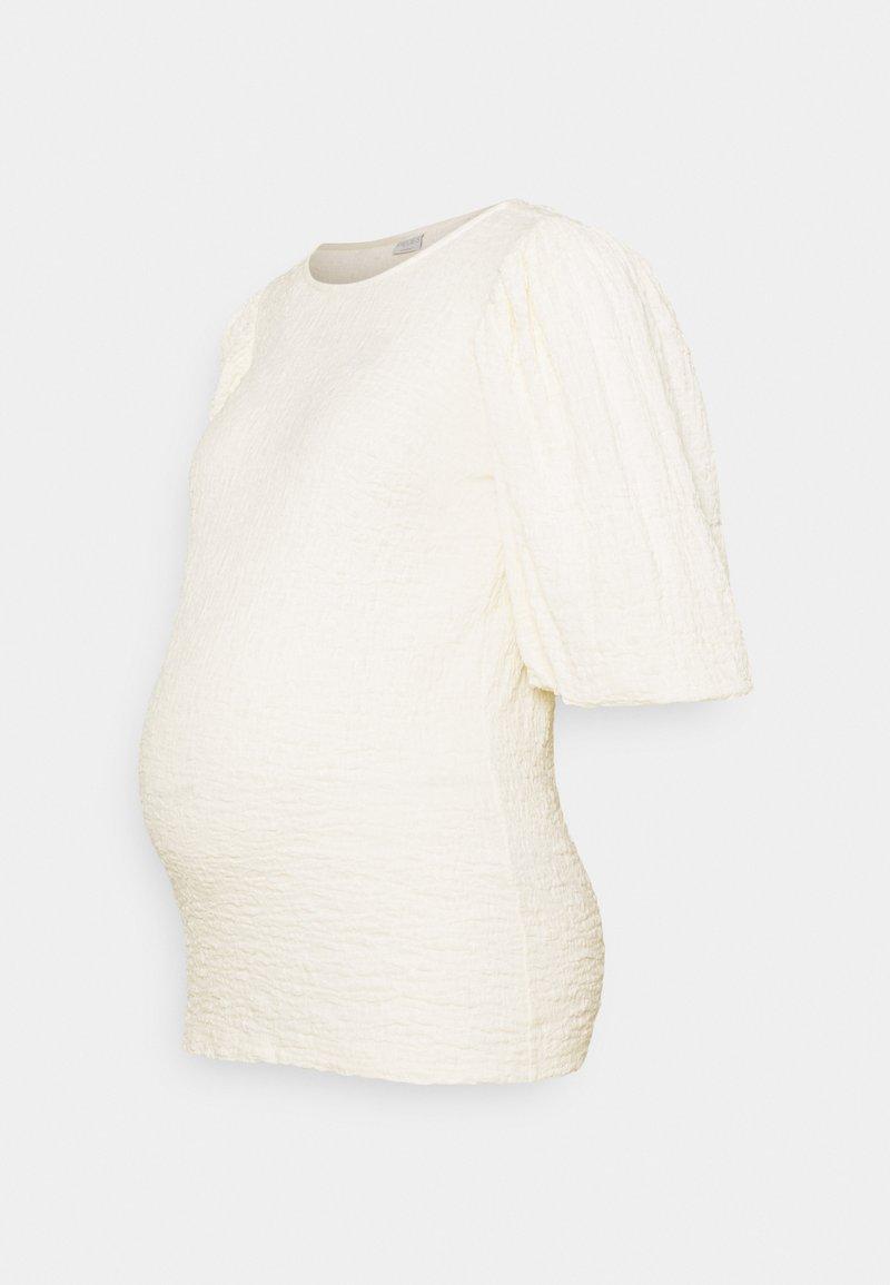 Pieces Maternity - PCMKALA - Long sleeved top - cloud dancer