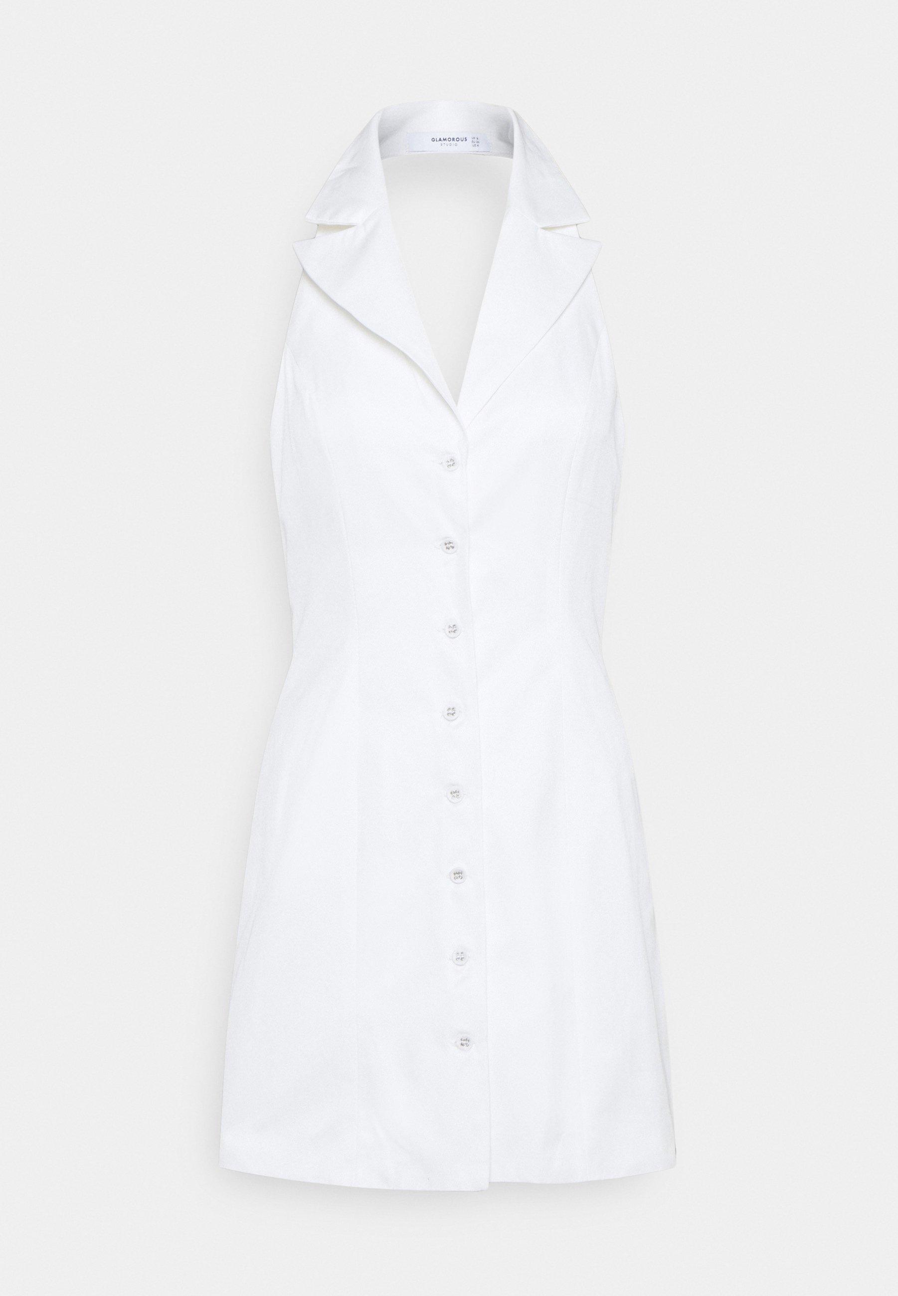 Women STUDIO COLLARED HALTER NECK MINI DRESSES WITH OPEN BACK - Day dress