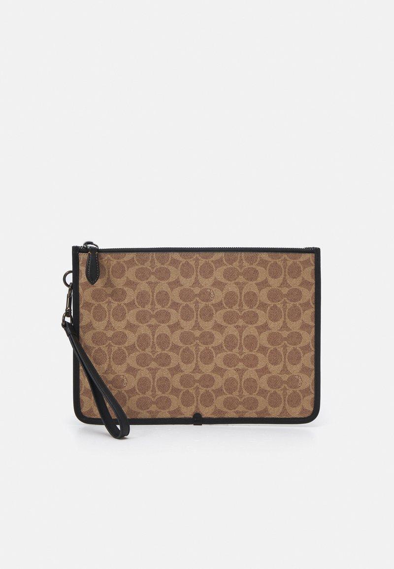 Coach - CHARTER POUCH IN SIGNATURE UNISEX - Laptop bag - tan