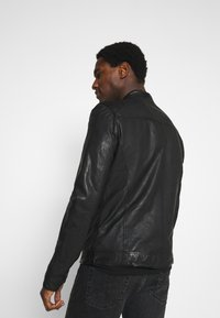 Goosecraft - GC ROSTOCK BIKER - Leather jacket - black - 2