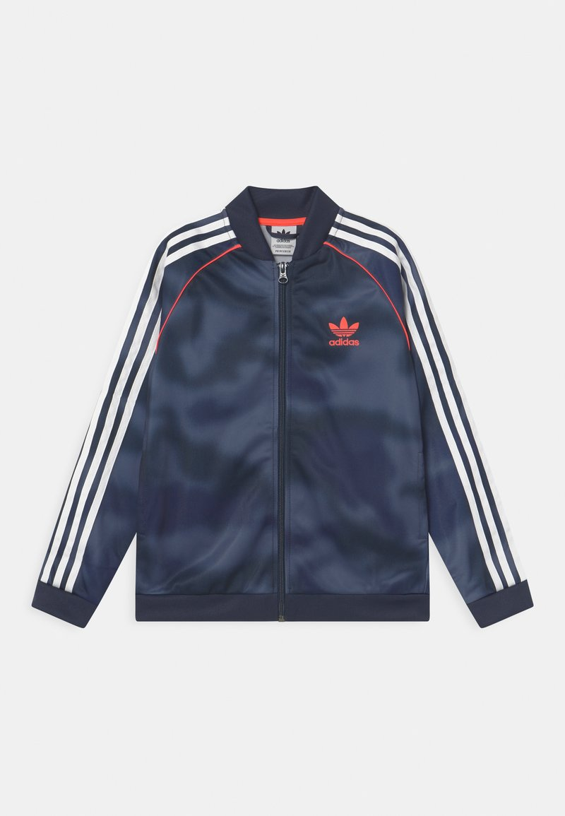 adidas Originals - CAMO SUPERSTAR UNISEX - Training jacket - crew blue/white/solar red