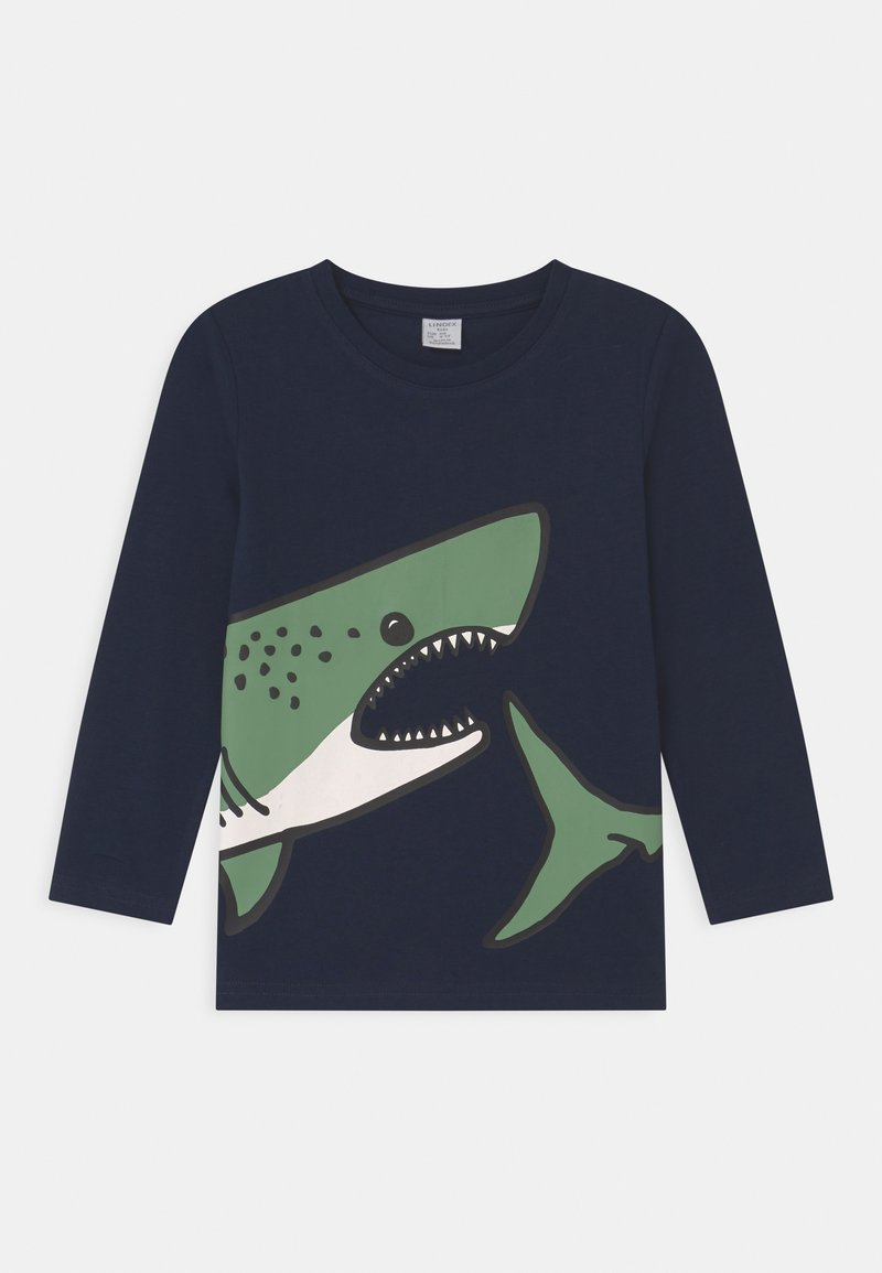 Lindex - PLACED SHARK - Long sleeved top - dark navy