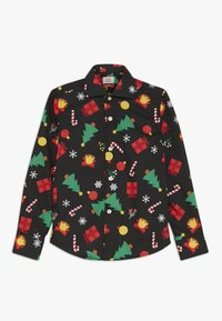 OppoSuits - KIDS CHRISTMAS ICONS - Shirt - black - 0