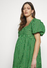 Topshop Maternity - GINGHAM MINI - Day dress - lime - 3
