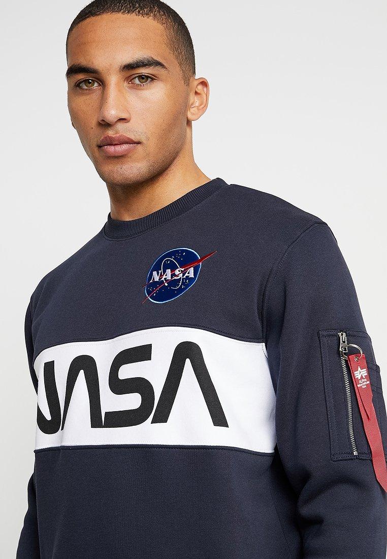 Alpha Industries NASA INLAY Sweater bluedonkerblauw