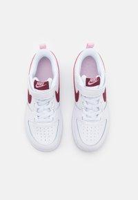 Nike Sportswear - COURT BOROUGH UNISEX - Sneakers basse - white/dark beetroot - 3