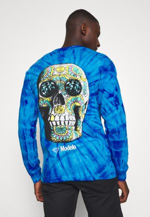 CALAVERA TIE DYE TEE - Long sleeved top - dark blue