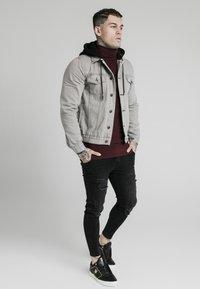 SIKSILK - WITH DETACHABLE HOOD - Denim jacket - grey - 1