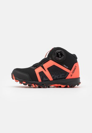 TERREX BOA MID R.RDY UNISEX - Hiking shoes - core black/footwear white/solar red