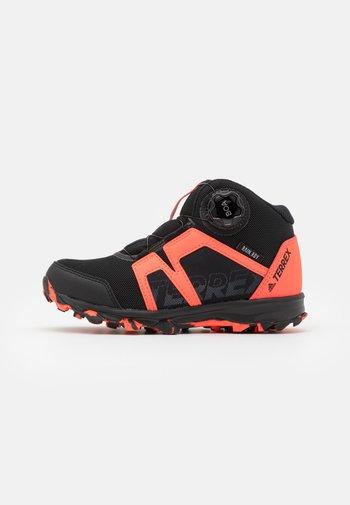 TERREX BOA MID R.RDY UNISEX - Hiking shoes - core black/footwear white/solar red