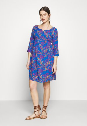 AVERY - Korte jurk - floral leaf blue