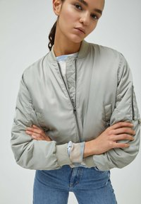 PULL&BEAR - Bomber Jacket - grey - 5